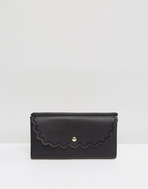 送料関税込み ASOS Scallop Edge Envelope Purse 財布