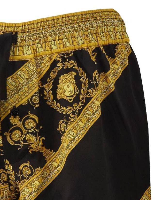 【VERSACE HOME】I ♡ BAROQUE シルク パジャマ ショーツ