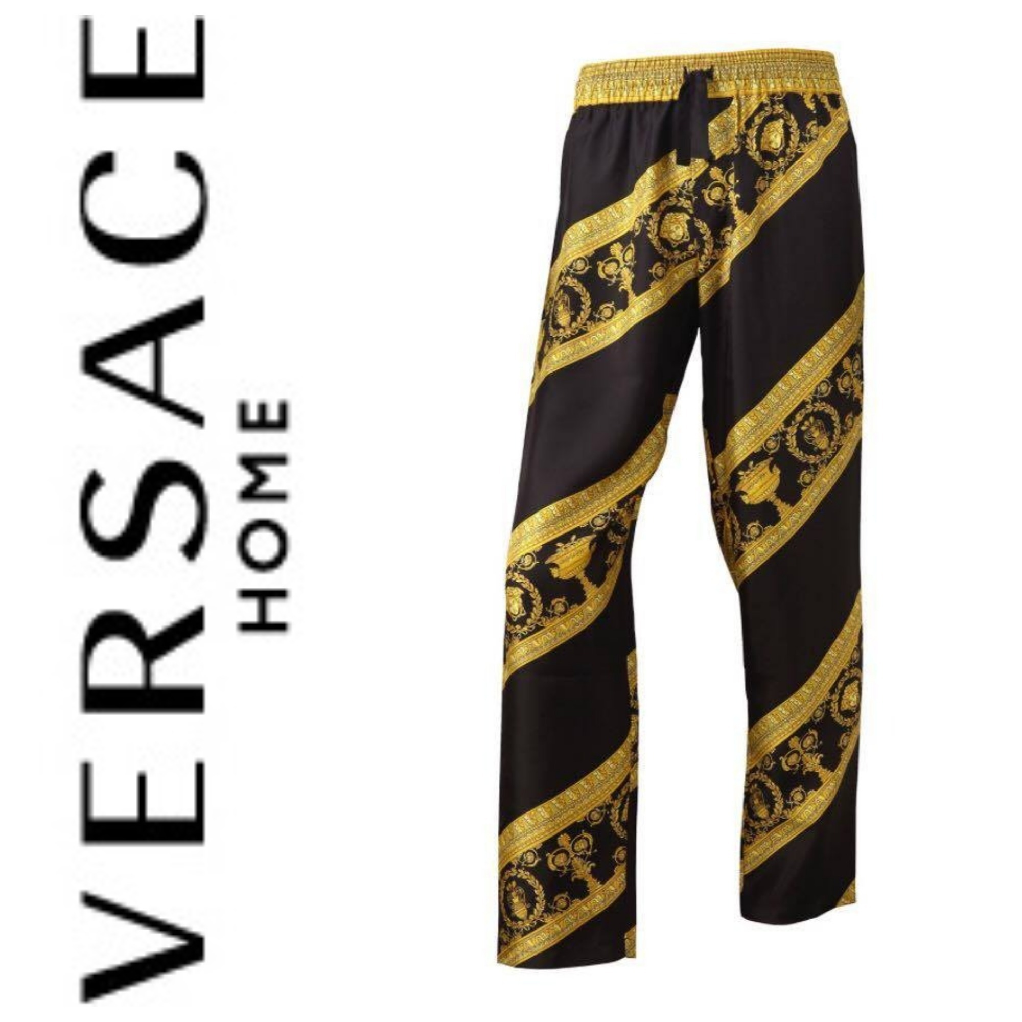 【VERSACE HOME】I ♡ BAROQUE シルク パジャマ パンツ