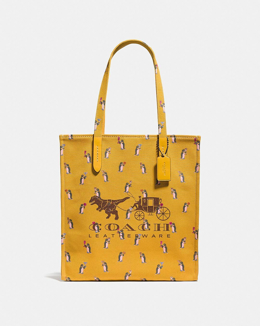 Rexy And Carriage Tote YELLOW/MULTI/BLACK COPPER