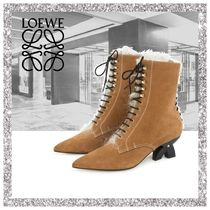 17AW新作【LOEWE】Lace Up Boot Shearling Caramel