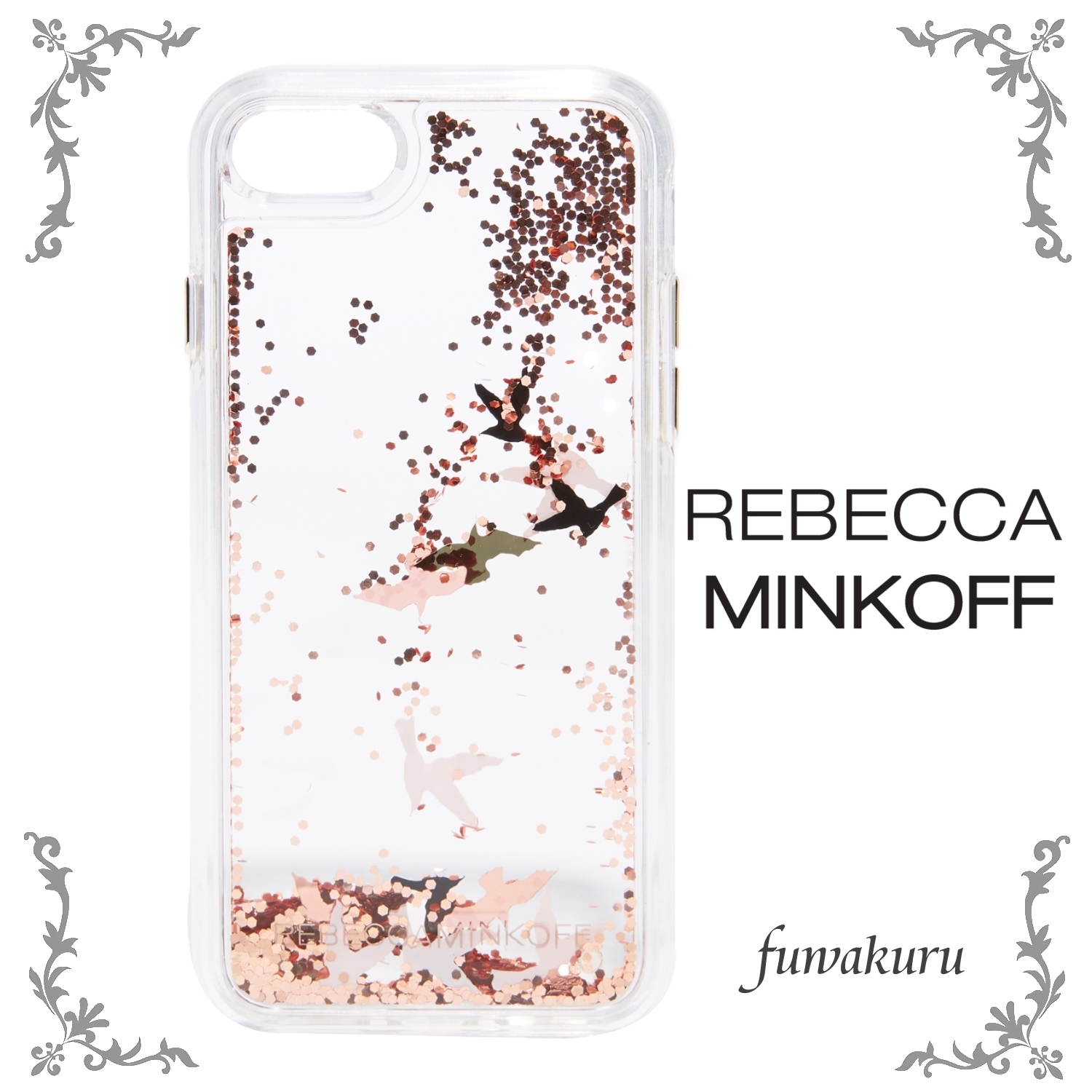 【Rebecca Minkoff】Birds Glitterfall iPhone 7 Case