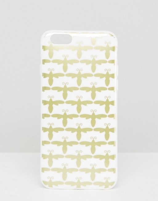 【SALE】Bee Print Iphone 6 Case ハチ クリスマス アニマル柄