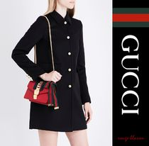 【国内発送】GUCCI コート Contrast button-detail wool coat