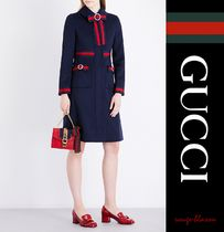 【国内発送】GUCCI コート Bow-detailed wool coat