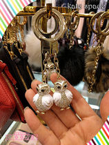 Kate spade☆jeweled owl keychain☆幸運を運ぶフクロウチャーム