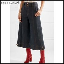 【関税/送料込】See by Chloe Cropped high-rise wide 国内発送