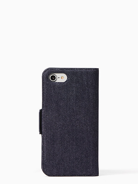 最新作☆ kate spade ☆17AW☆denim folio iphone 7/8 case