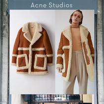 【17AW NEW】 Acne Studios_men/Lod tan brown /ボアコートBR