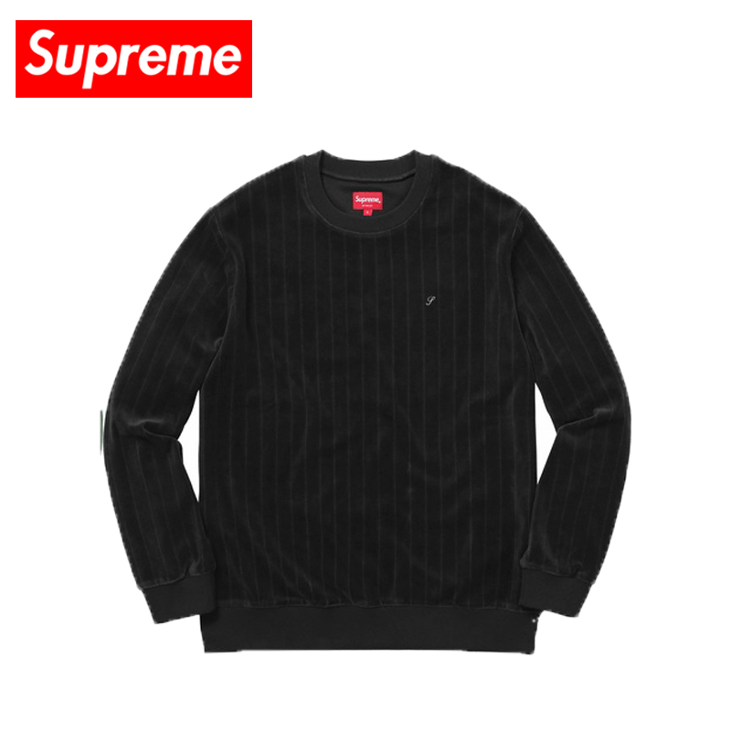 即納 国内発送 Supreme Ribbed Velour Crewneck