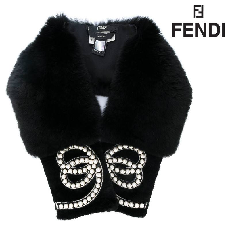 【18SS★在庫1点】大注目★FENDI★pearl embellished collar