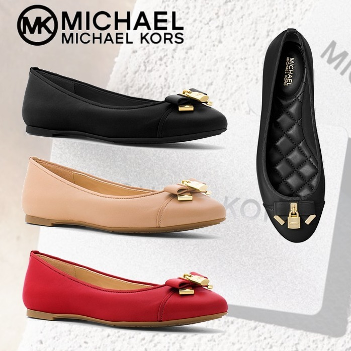 新作 Michael Kors★Alice Leather Ballet Flatフラットシューズ