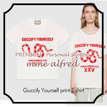 "Gucci グッチ★ ""Guccify Yourself"" スネーク プリント Tシャツ"