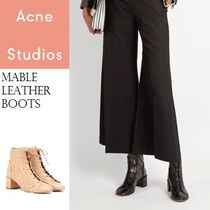 ACNE Mable ankle boots レースアップフロントレザーブーツ 2色