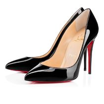CHRISTIAN LOUBOUTIN Pigalle Follies 100 パテント ブラック