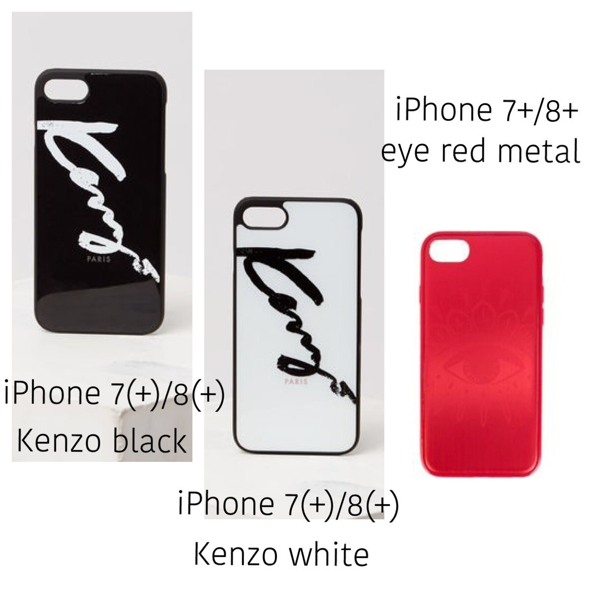 KENZO / iPhone 6/6S/7/8 (Plus) case / ロゴやアイ等3