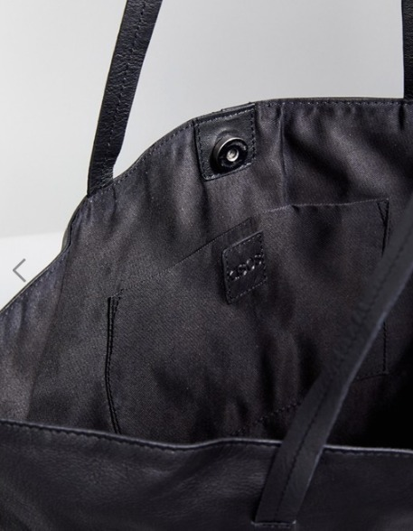 【ASOS】 Leather Tab Shopper Bag