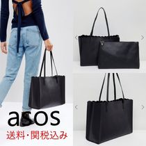 【ASOS】 Scallop Shopper Bag With Removable Clutch