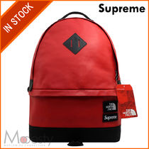 【日本国内発送】 SUPREME THE NORTH FACE LEATHER DAY PACK 赤
