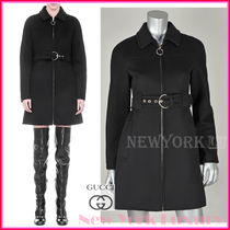 GUCCI★グッチ★素敵!BLACK WOOL STRUCTURED DESIGN COAT