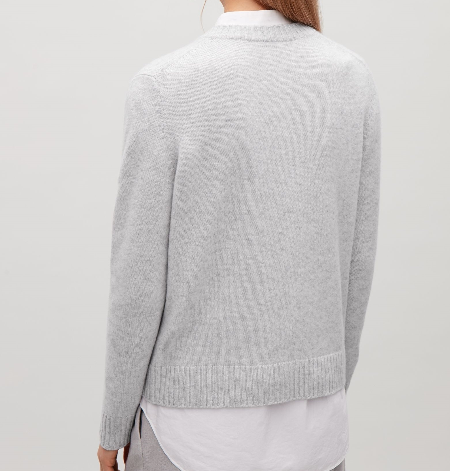 """COS""V-NECK CASHMERE JUMPER LIGHTGRAY"