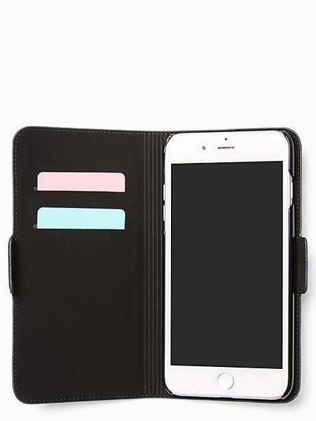 キラキラビーズが素敵!kate spade denim folio iphone7/8 plus