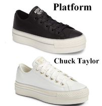 Urban Outfitters(アーバンアウトフィッターズ) スニーカー 日本未入荷 希少!CHUCK TAYLOR ALL STAR 厚底  ハイトップ黒・白