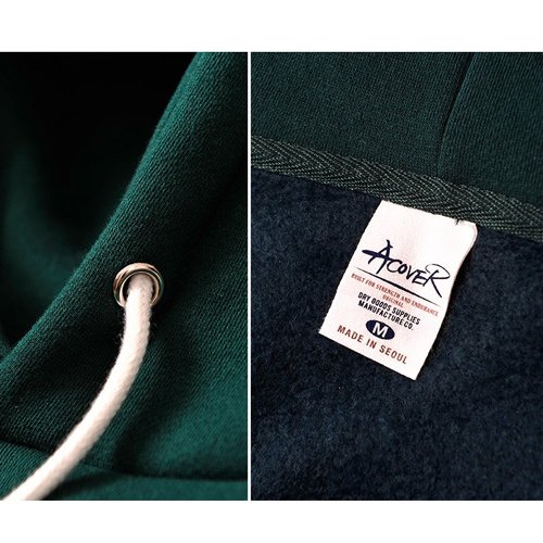 ★ACOVER★日本未入荷[起毛]TUMBLE NAPPING HOODIE(D/GN)