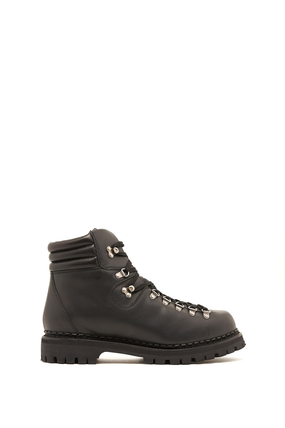 【グッチ】Calf Leather Laced Up Trekking Boots ブーツ