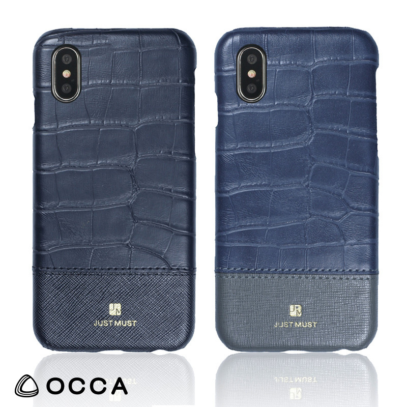 iPhone X 用 お洒落なクロコ柄Croco IV back for iPhone X