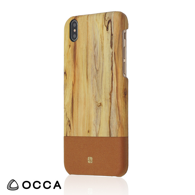 iPhone X 用 ウッドパターン カバー/Wooden for iPhone X