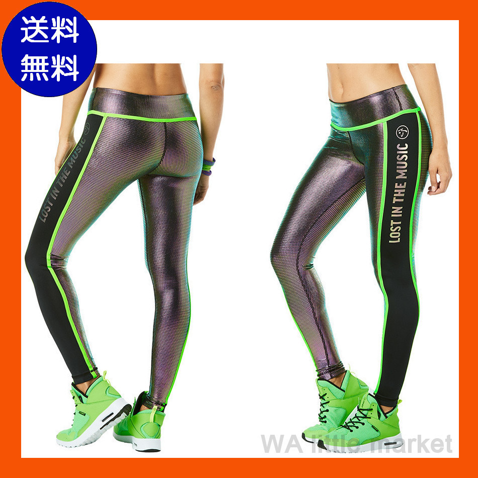 12月新作【送料無料】ZUMBA Ankle Piped Metallic Leggings