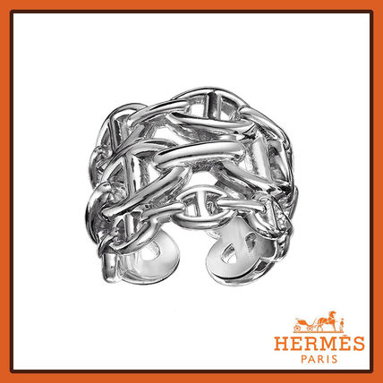 HERMES★エルメス Chaine d'Ancre Enchainee シルバーリング