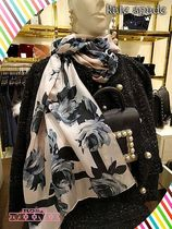 ローズ柄がエレガントKate spade★night rose silk oblong scarf