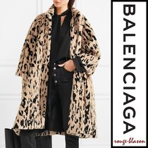 【国内発送】Balenciaga コート Oversized animal-print coat
