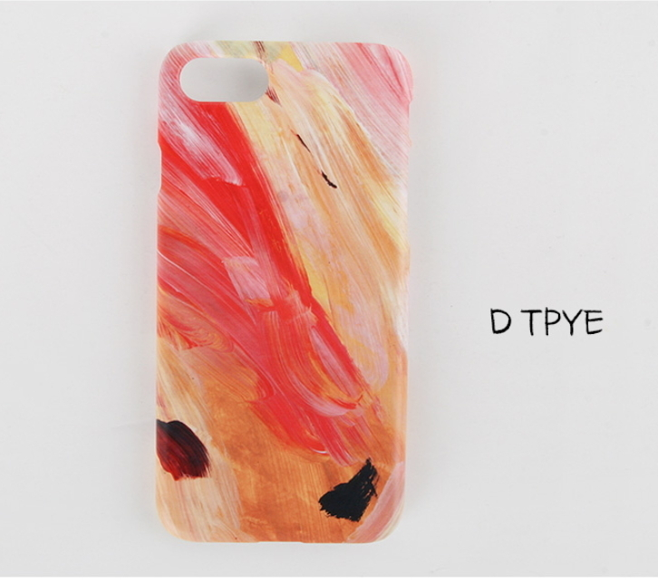 Red pastel art collection レッドペイントのiPhone7/8ケース
