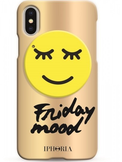 IPHORIA☆Case with Mirror for Apple iPhone X - Friday Mood