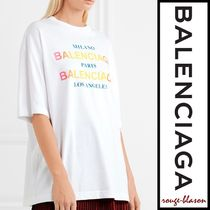 【国内発送】Balenciaga Tシャツ Printed cotton-jersey T-shirt