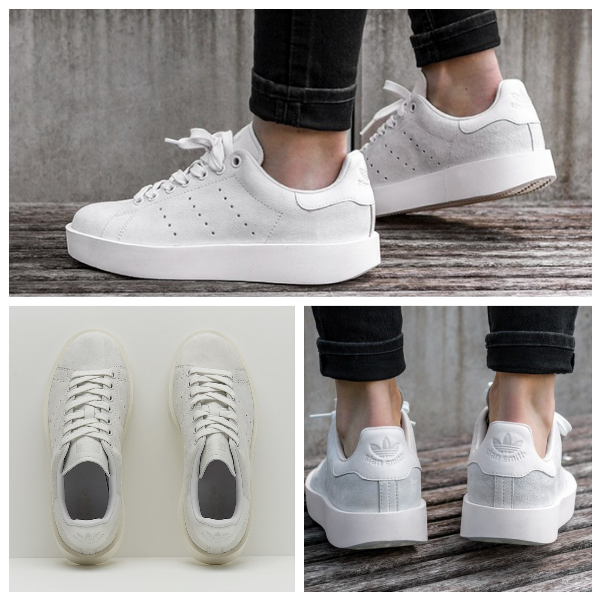 competitive price b46e3 7f575 adidas STAN SMITH 2017-18AW Platform Round Toe Casual Style Unisex Suede
