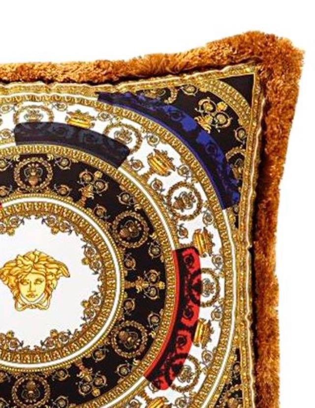 【VERSACE HOME】I♡BAROQUE シルク アクセント クッション