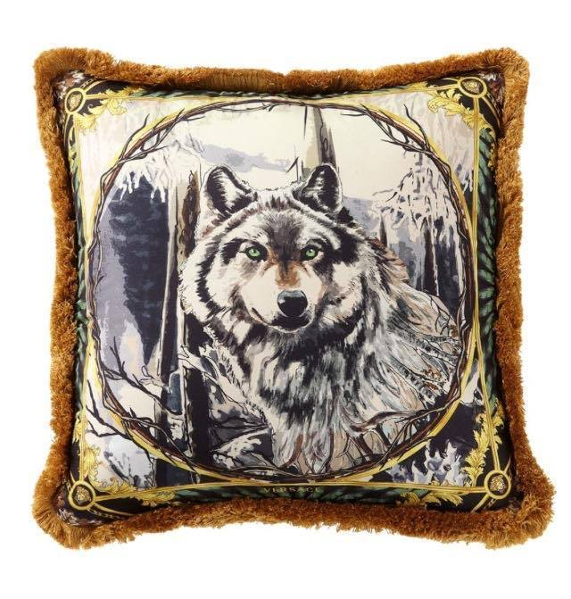 【VERSACE HOME】HARRY WOLF プリント アクセント クッション