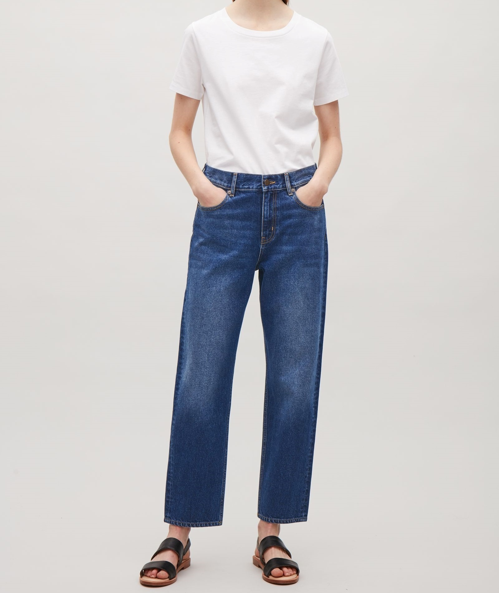 """""""COS""""STRAIGHT-FIT CROPPED JEANS BLUE"""