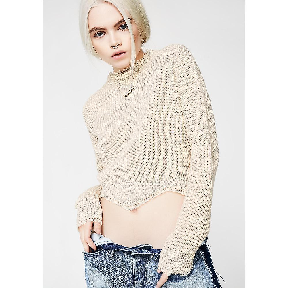★BEIGE CROP SWEATER