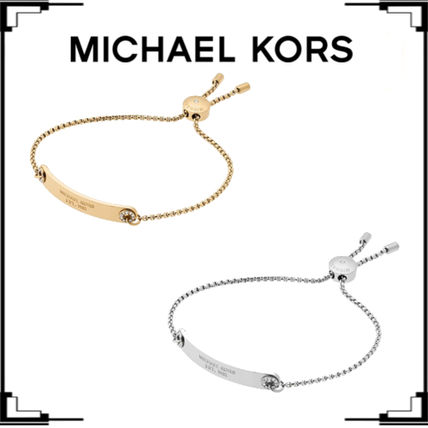 ★Michael Kors★Logo PlaqueスライダーブレスレットSilver/Gold