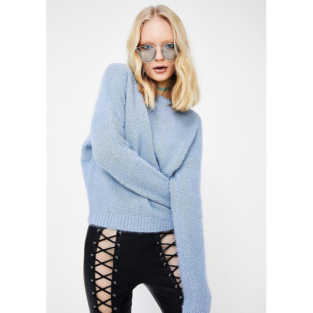 CLOUDS LACE-UP SWEATER