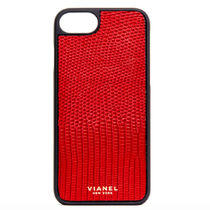 ★Ron Herman★iPhone7 and 8 Plus ケース VIANEL Lizard★RED