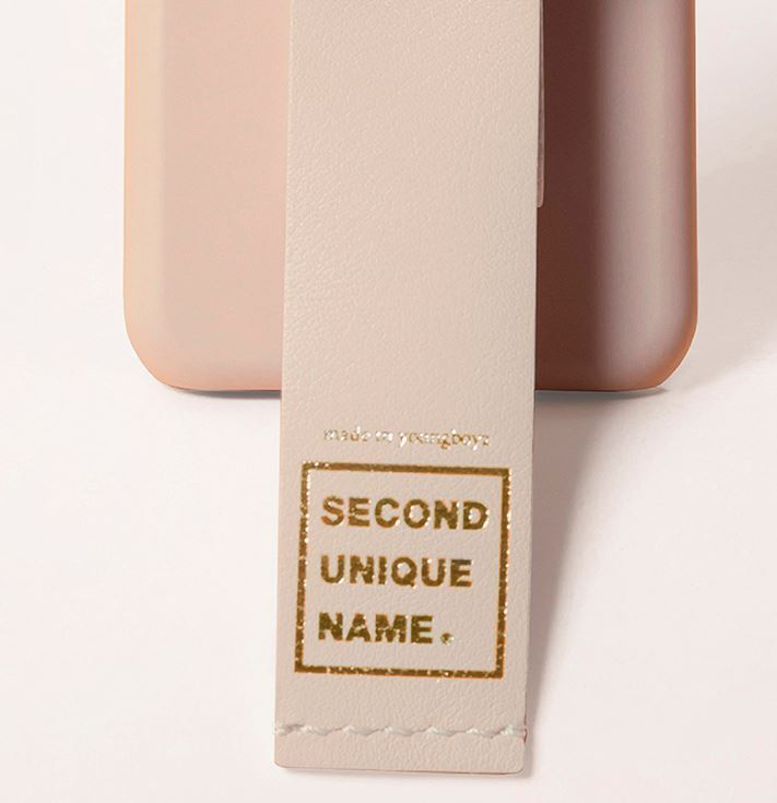 ★NEW「SECOND UNIQUE NAME」 LEATHER NATURAL IVORY★送料込★