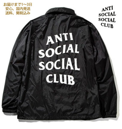 ANTI SOCIAL SOCIAL CLUB ジャケットその他 入手困難![ASSC] Never gonna give you up コーチジャケット