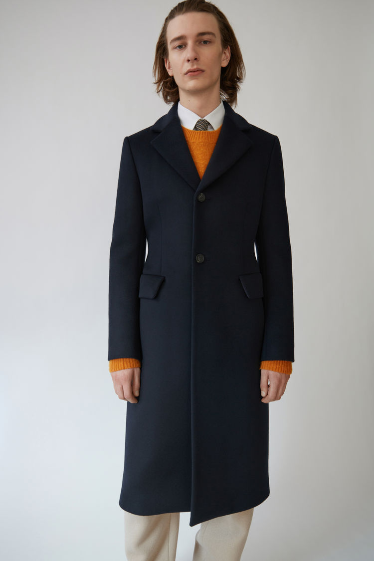 【17AW NEW】 Acne Studios_men/Micro cashmere navy/コートNV