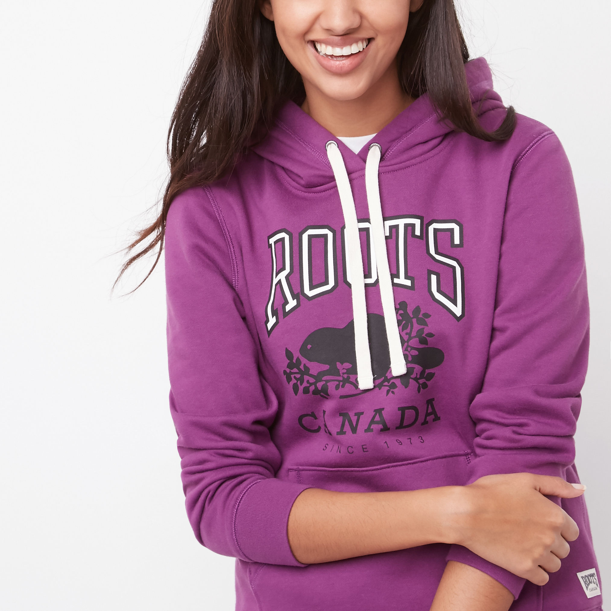Roots○ルーツ○Classic Pullover Kanga Hoody○WOOD VIOLET